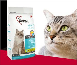 "פירסט צ'ויס לחתול שיער בריא סלמון 2.72 ק""ג"