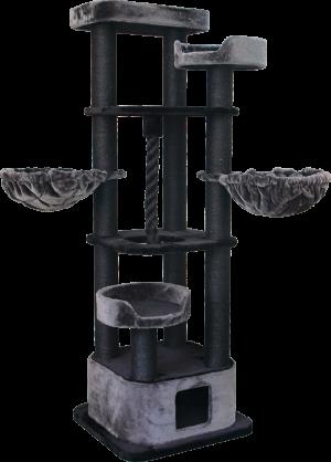 """מתקן גירוד מפואר לחתול של חברת פטקס 4 קומות דגם PS117 מידה 60X60X160 ס""""מ"""