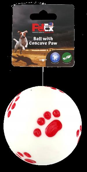 כדור משחק לכלב של חברת פטקס עם צפצפה מובנית לגירוי ייצר המשחק EV035