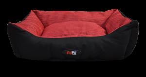 מיטה לכלב בצבע אדום מבד הדוחה מים גודל 90X70X24