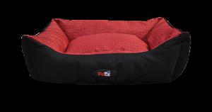 מיטה לכלב בצבע אדום מבד הדוחה מים גודל 75X60X22