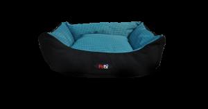 מיטה רחיצה לכלב בצבע כחול מבד הדוחה מים בגודל 60X50X20