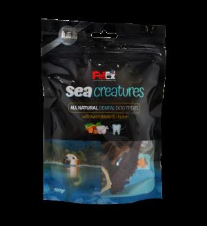 יצורי ים חטיף דנטלי לכלבים עם בטטה ובשר עוף אמיתי 100 גרם