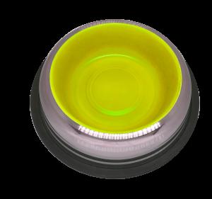 פטקס קערת נירוסטה עם גומיות בתחתית בצבע צהוב זוהר דגם M-BL-CRT50