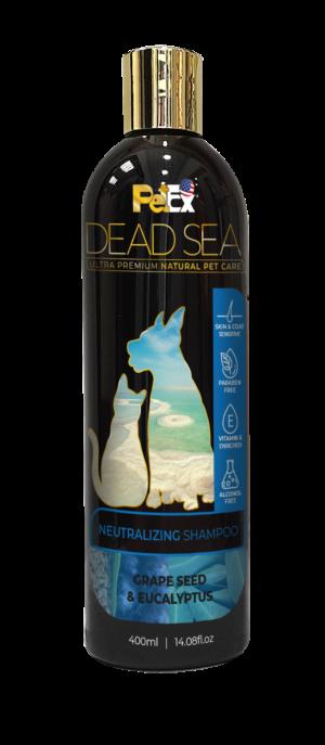 פטקס שמפו יעודי לכלבים וחתולים מועשר במינרלים של ים המלח 400 מיליליטר