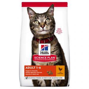 "Hill's Science Plan לחתול בוגר (עם עוף), 3 ק""ג"