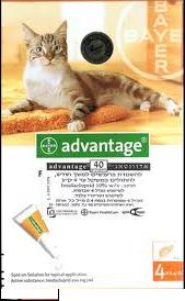 """אמפולות לעורף 4 יח´ לחתול עד 4 ק""""ג אדוונטאג´"""
