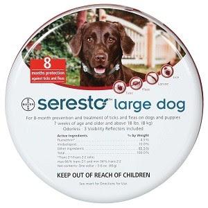 """קולר סרסטו לכלב גדול מעל 8 ק""""ג"""