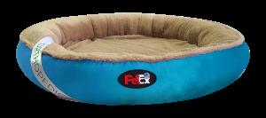 """מיטה אורטופדית עגולה לכלב בצבע כחול בגודל 100 ס""""מ"""