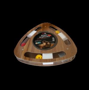 משטח גירוד ומשחק לחתול מעץ וקרטון ממוחזר בצורת משולש דגם SCT-34 פטקס