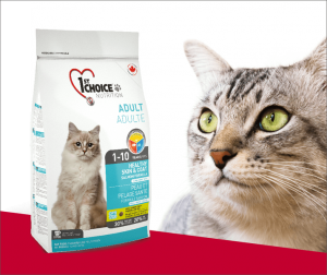 "פירסט צ'ויס לחתול שיער בריא סלמון 5.44 ק""ג"