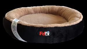 """מיטה עגולה לכלב בצבע שחור עם מזרן אורתופדי בגודל 60 ס""""מ"""