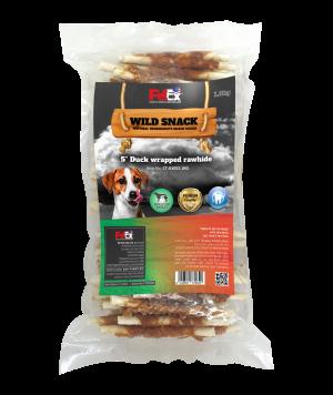 """אריזת חיסכון של מקלות לעיסה מובחרים לכלב בציפוי בשר ברווז מיובש 1 ק""""ג"""