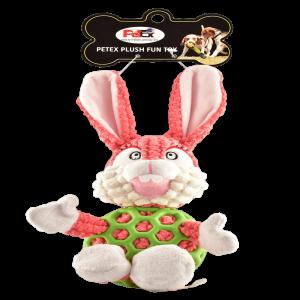 פטקס בובת משחק לכלב בדמות ארנב בצבע וורוד