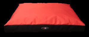 """פטקס מזרן מפנק לכלב בצבע אדום מבד הדוחה מים 75X60X10 ס""""מ"""