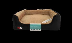 """פטקס – מיטה אורתופדית לכלב בצבע חום ושחור במידה 75X60X8 ס""""מ"""