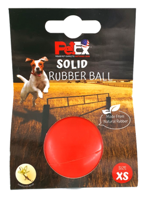 כדור גומי דנטלי קופצני ודחוס בצבע אדום ניחוח וניל גודל XS מודל ER31