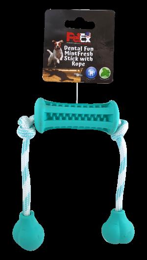מקל דנטלי ריחני בשילוב סיבי כותנה לניקוי השיניים בכלבים מכל הגזעים דגם ER008