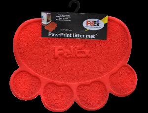 שטיח לחתול בצבע אדום