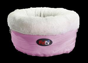 """SPUN SUGAR מיטת פרווה יוקרתית לחתול ולכלב בצבע ורוד ובגודל 50X50 ס""""מ"""