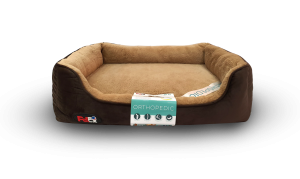 """פטקס – מיטה אורטופדית לכלב בצבע חום במידה 110x70x8 ס""""מ"""