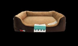 """פטקס – מיטה אורטופדית לכלב בצבע חום במידה 75x60x8 ס""""מ"""