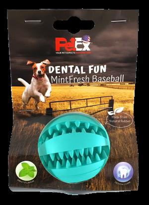 כדור משחק דנטלי לכלב של חברת פטקס בניחוח מנטה מרענן דגם ER001