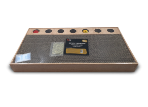משטח גירוד ומשחק לחתול מקרטון ממוחזר עם הדפס עץ דגם SCH1520