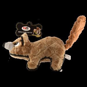 פטקס בובת משחק לכלב בדמות סמור בצבע חום