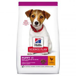"""Hill's Science Plan לגור כלב מגזע קטן (עוף), 3 ק""""ג"""