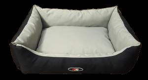פטקס מיטה מפנקת לכלב בצבע אפור שחור מבד הדוחה מים – גודל גדול
