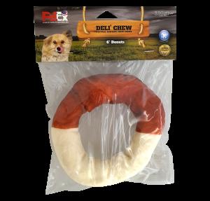 עצם באפלו עגולה לכלב בטעם קפה ונטוראל 6 אינץ 100 גרם