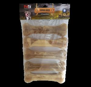 """עצם דחוסה לכלב בטעם טבעי (אריזת חיסכון 5 י""""ח ) משקל כולל 650 גרם"""