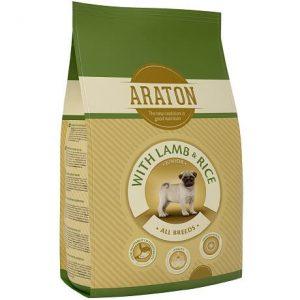אראטון כלב גור עם כבש ואורז