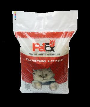 """פטקס חול מתגבש לחתול בניחוח של טלק תינוקות,זמין במשקל של 16 ק""""ג"""