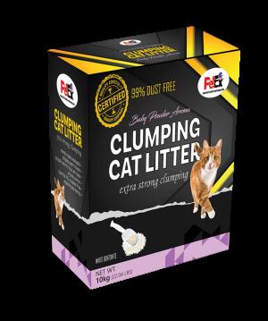 """פטקס חול מתגבש וריחני לחתול באריזת קרטון מהודרת וחסכונית 10 ק""""ג"""