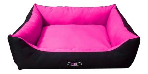 פטקס מיטה מפנקת לכלב בצבע ורוד שחור מבד הדוחה מים 75X60X22