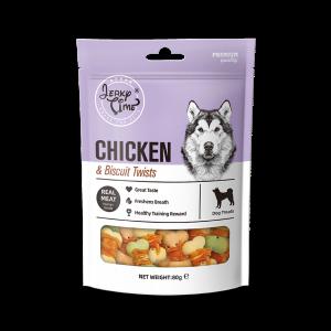 גרקי טיים – מזון מלא לכלבים – עוף עם ביסקוויט -משקל 80 גרם