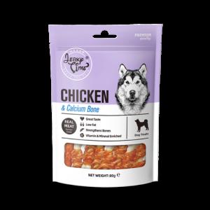 גרקי טיים -מזון מלא לכלבים – עוף עם עצם סידן – משקל 80 גרם