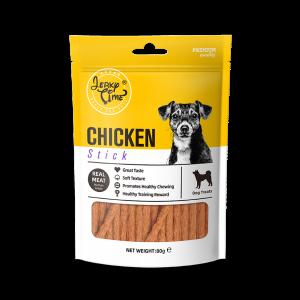 גרקי טיים-מזון מלא לכלבים -מקלות עוף -זמין במשקל כולל של 80 גרם