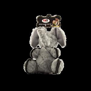 פטקס בובת משחק לכלב בדמות פיל בצבע אפור