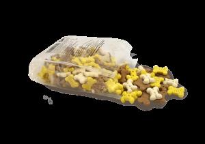 פאפי טריטס וונילה מזון מלא לגורי כלבים עשיר בסיבים תזונתיים 200 גרם
