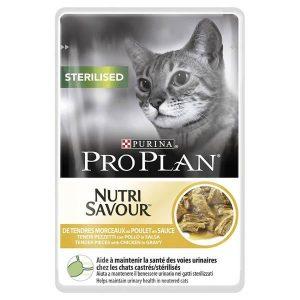 פרופלאן לחתול – מזון רטוב לתמיכה במערכת השתן לחתולים לאחר סירוס/עיקור בטעם עוף 85 גרם