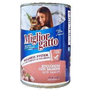 מיגליאור לחתול – מעדן בטעם סלומון 400 גרם
