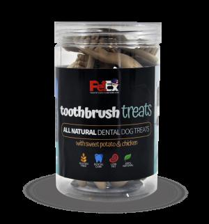 חטיף דנטלי יבש לניקוי השיניים בצורת מברשת שיניים לכלבים, 300 גרם