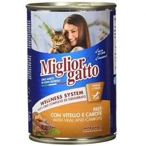 מיגליאור לחתול – מעדן בטעם עגל וגזר 400 גרם