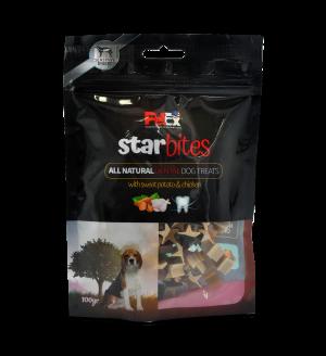 נגיסי בשר מובחרים לכלב בצורת כוכב דנטלי 100 גרם