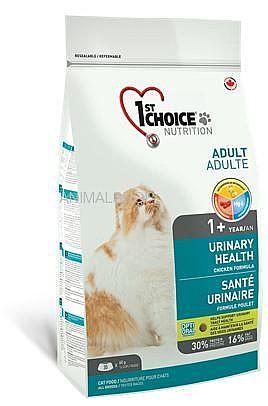 """פירסט צ'ויס יורינרי אוכל לחתולים בוגרים עם בעיות בדרכי השתן 5.4 ק""""ג"""