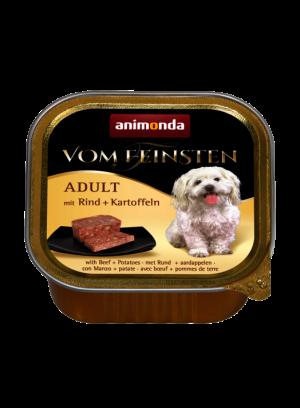 שימור וום פיינסטן לכלב בטעם בקר עם תפוחי אדמה
