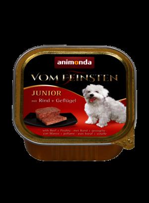 שימור וום פיינסטן לגורי כלבים בטעם בקר ועופות